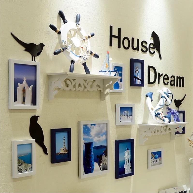 客廳照片牆相框牆 地中海歐式心形相框掛牆相片牆