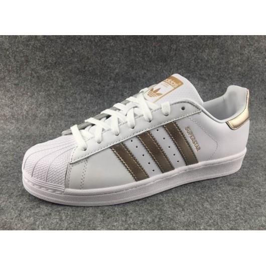 Adidas 阿迪達斯三葉草SuperStar 貝殼頭白金沖孔貝殼鞋男女鞋情侶鞋36 44