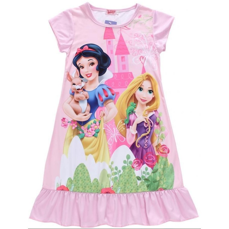 迪士尼公主系列白雪公主白雪長髮公主樂佩女童涼感連身裙