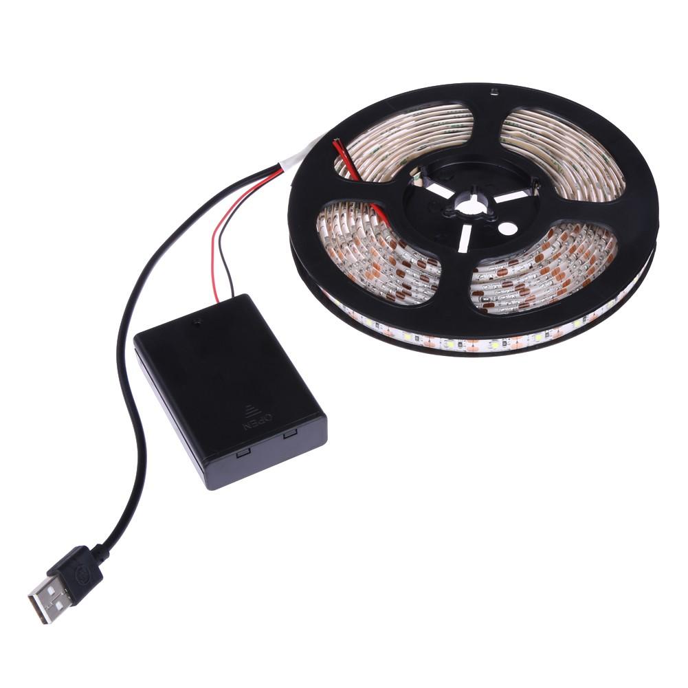 電池USB 供電的LED 3528 貼片防水柔性LED 燈條