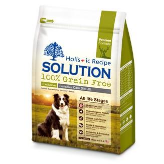 耐吉斯無穀~紐西蘭鹿肉~1 36KG 成幼犬低敏柔膚配方,SOLUTION 成犬飼料幼犬飼