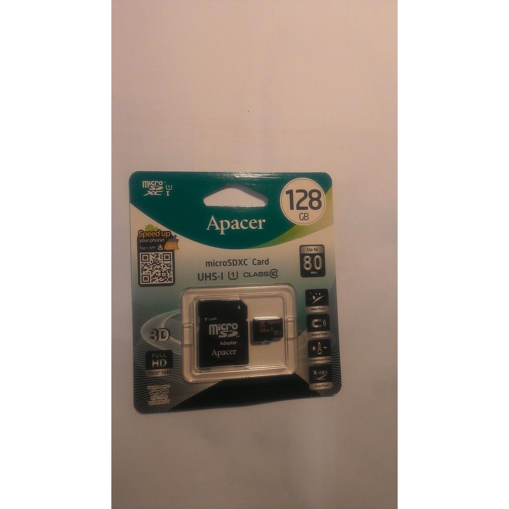 Apacer Micro SD 128GB 128G MicroSDXC UHS I C1