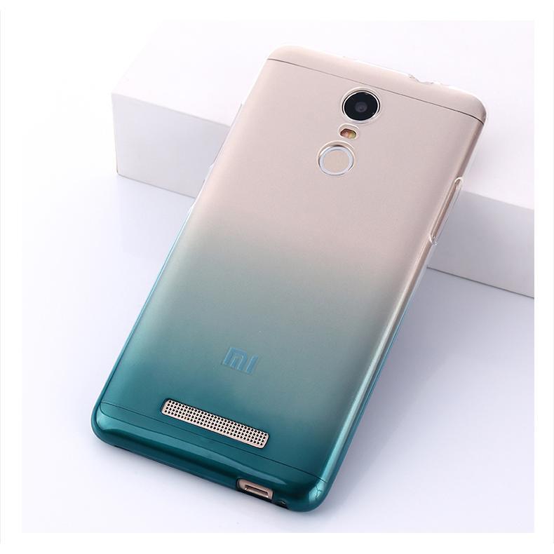 ~ 不用等~小米紅米NOTE3 漸層超薄手機軟套湖水綠