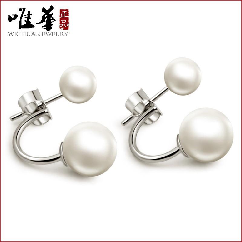 ~純銀耳環這個 MM ~唯華S925 純銀貝殼珍珠耳釘那年冬天風在吹 復古耳環耳飾