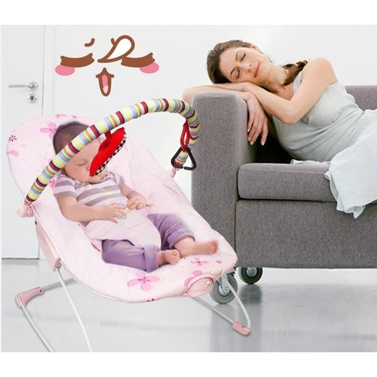 美國Bright Starts 嬰兒電動彈跳搖搖椅哄睡搖床搖籃寶寶抖動