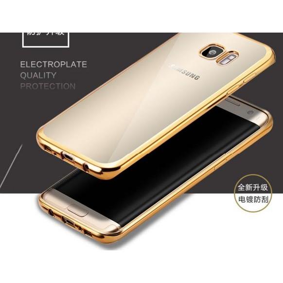 三星S6 edge 手機保護套超薄超輕samsung 簡約邊框銀金玫瑰金手機殼透明手機套~