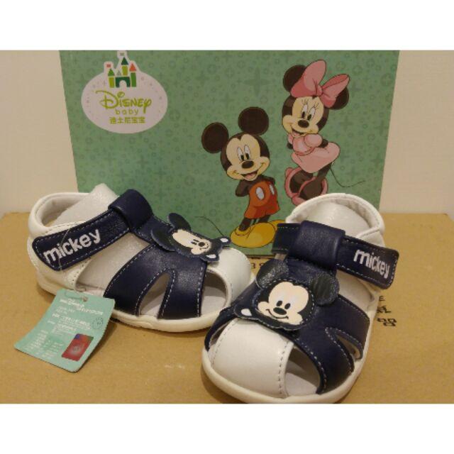 包恩鞋鞋屋 迪士尼 學步鞋涼鞋休閒 鞋男寶寶鞋皮製涼鞋