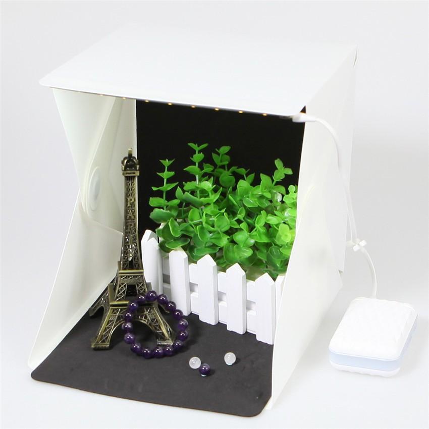 折疊可擕式LED 迷你攝影棚柔光箱攝影燈箱小型簡易拍攝柔光箱