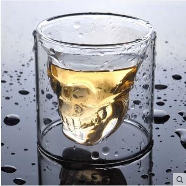 水晶烈酒杯小號水晶骷髏杯紅酒杯飲料玻璃杯 酒吧杯子 骷髏 水晶杯星巴克杯子