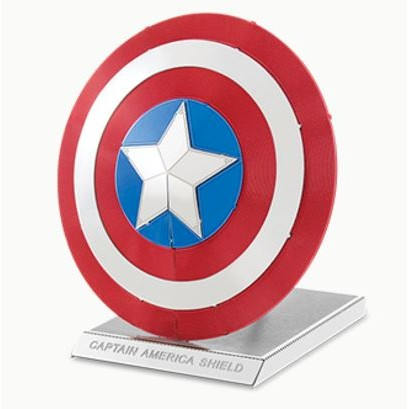 ~阿齒~DIY 3D 金屬模型美國隊長護盾彩色版另售鋼鐵人3D 金屬拼圖Metallic