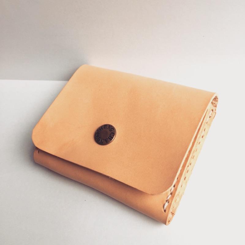 義大利原色植鞣革名片夾