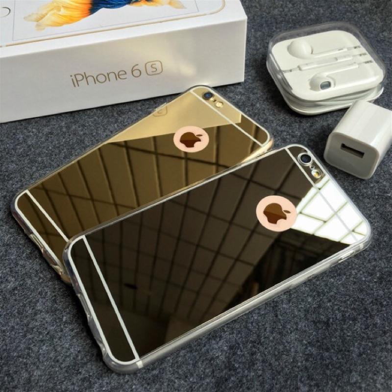 鏡面手機殼iphone6 6s 硅膠包邊蘋果6splus 外殼5 5 掛繩情侶