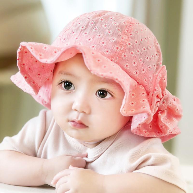 嬰兒帽子夏天3 6 12 個月男女寶寶太陽帽盆帽出游帽沙灘遮陽帽防曬小孩帽太陽帽童帽遮陽帽