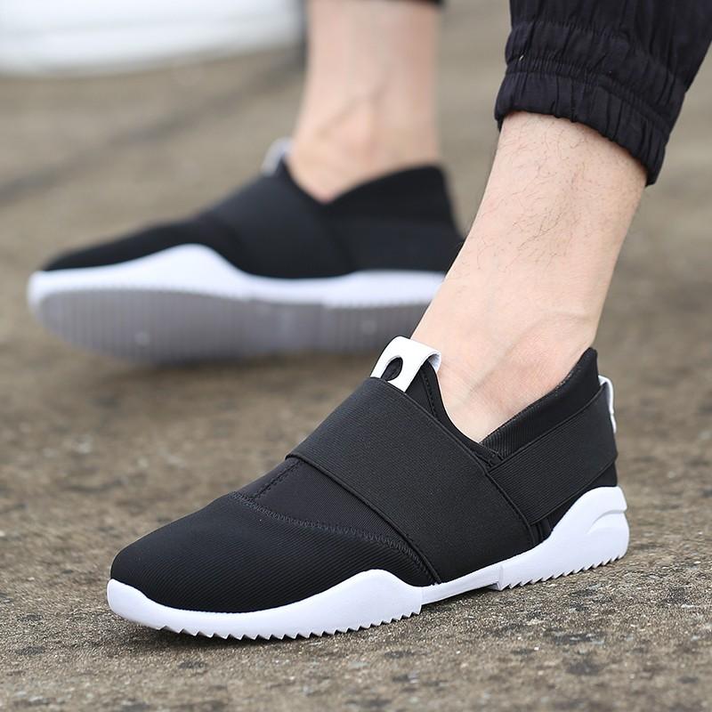 男生豆豆鞋懶人鞋休閒鞋皮鞋登山鞋 一腳蹬百搭板鞋男士帆布鞋 男鞋子黑色潮鞋布鞋高幫 夏