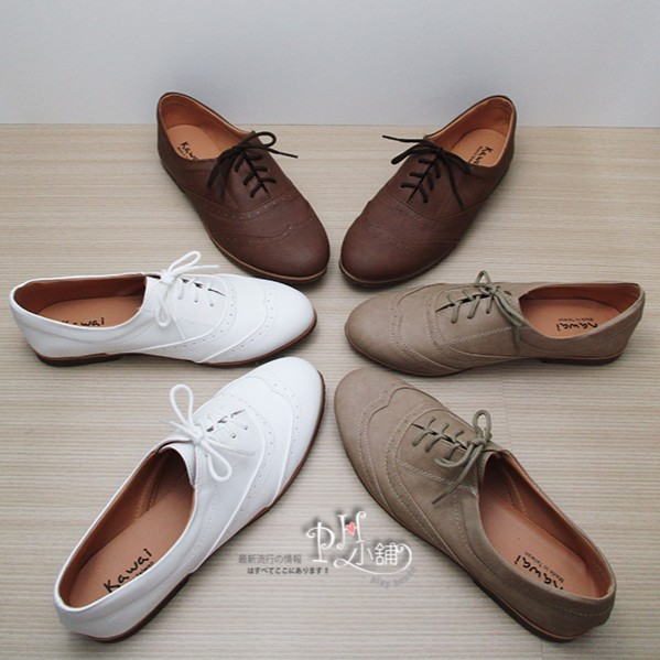 復古英倫綁帶牛津鞋,學院風平底包鞋娃娃鞋,MIT 鞋~K681 ~