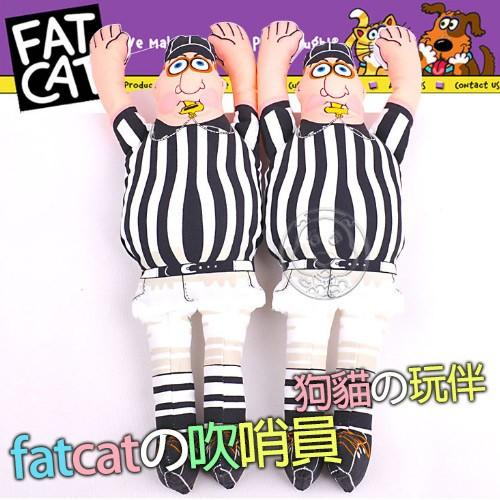 美國FATCAT ~中大型耐咬發聲玩具吹哨員38cm