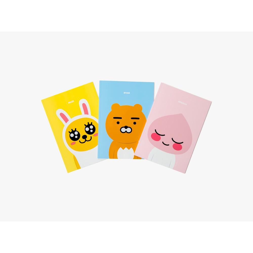 韓國kakao friends ryan 萊恩文具系列滑鼠墊線圈筆記本便條貼筆記本原子筆小