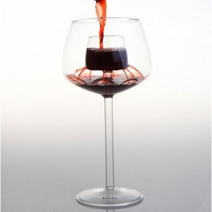 ~客滿來~雙層玻璃 高腳紅酒杯葡萄酒杯香檳杯酒具醒酒杯醒酒器酒吧 冰桶聚會派對贈禮AUBD