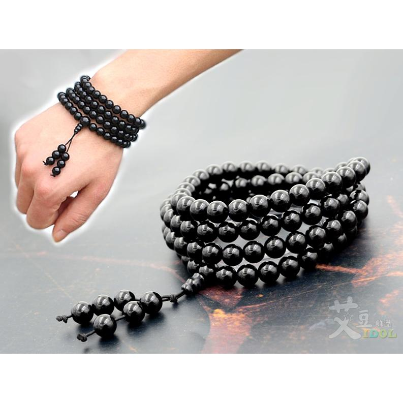 C3018 ~2 款_ 葫蘆黑瑪瑙手環項錬~情侶對鍊念珠復古中國風古著手鍊手鏈◆艾豆◆