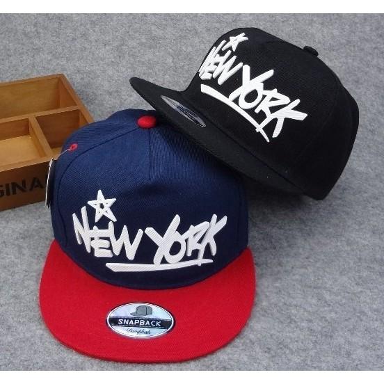~灰熊Q ~ 夏立體字母new york 嘻哈帽遮陽情侶平沿棒球帽女男款潮街頭潮帽街舞帽