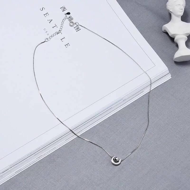 5 [極簡小舖]項鍊原創土星星球宇宙日 氣質簡約精緻百搭項鍊吊墜女士鎖骨鏈