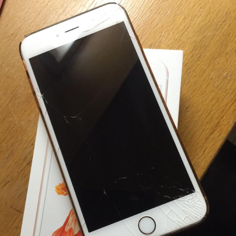 iphone6s 16g 玫瑰金, 中,螢幕裂