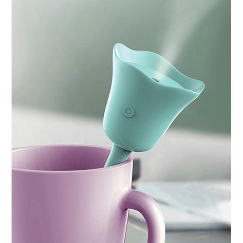 ~ ~便攜式鬱金香花朵加濕器迷你桌面超靜音USB 加濕器空氣淨化器美容補水儀 小