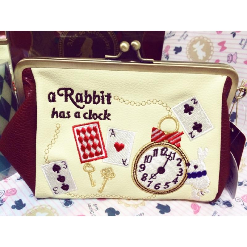 帶回超 Alice 愛麗絲夢遊仙境時間兔口金包