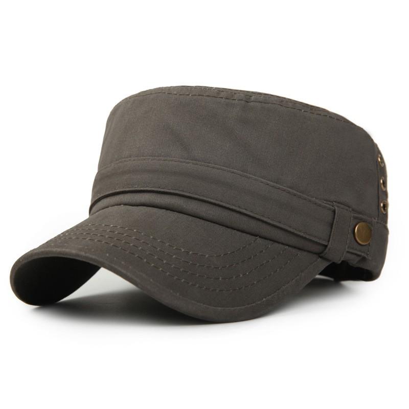 男士軍帽子簡約金屬排扣款軍綠
