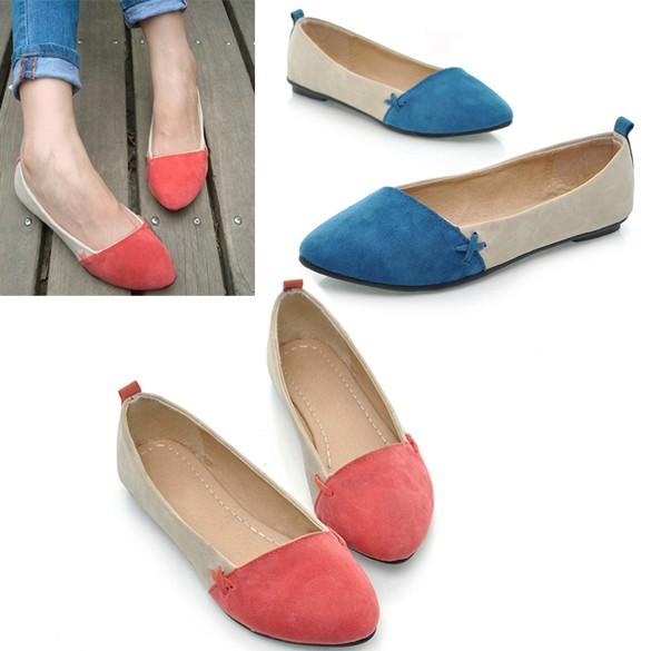 女孩鞋芭蕾舞低跟平底包鞋單鞋扁平休閒舒適小清新