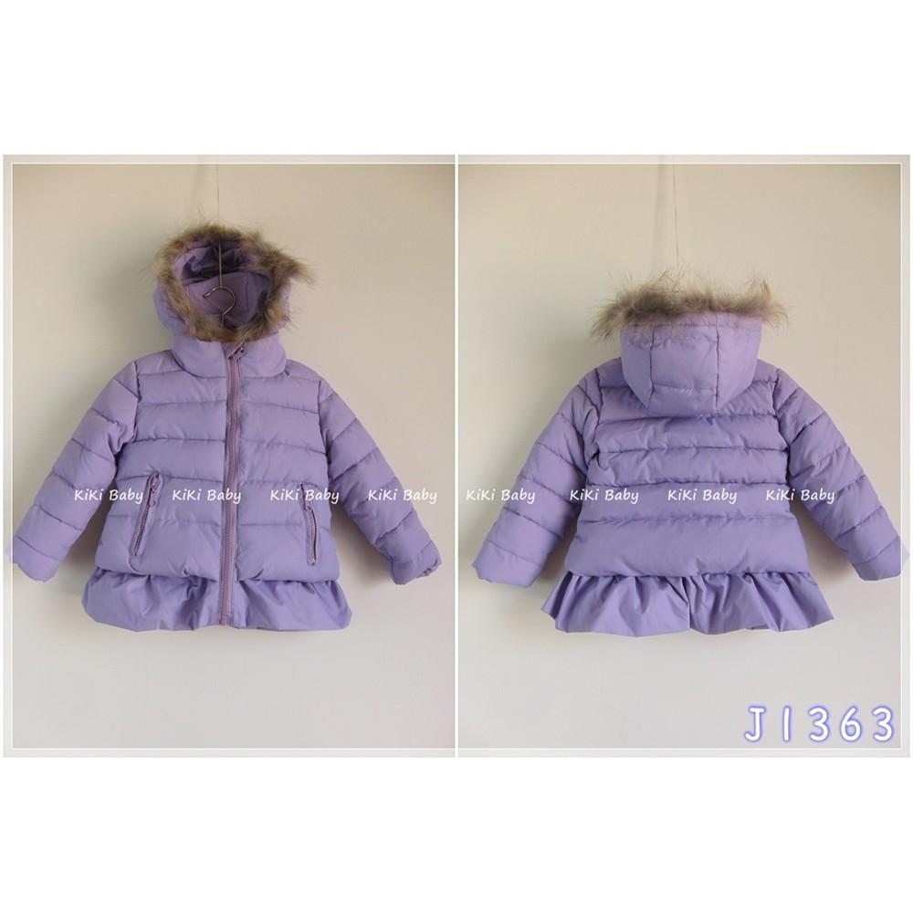 J1363 歐洲原單 粉紫色小裙襬棉絨超保暖厚外套