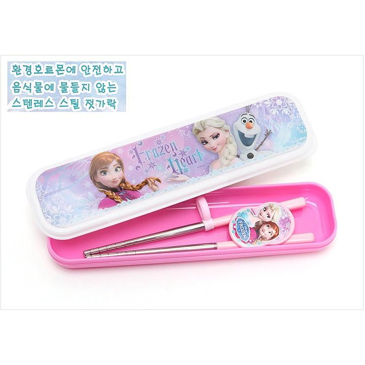 韓國disney 迪士尼冰雪奇緣Frozen 雪寶艾莎安娜兒童不鏽鋼學習筷幼兒三段智力筷愛