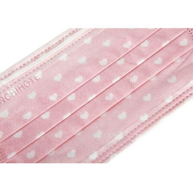 ~台製口罩50 入盒~粉紅愛心、粉色格子、小熊、豹紋