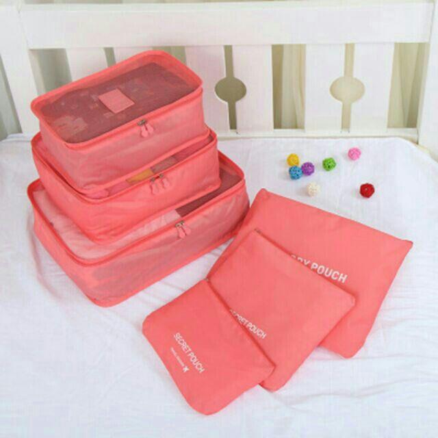 ~芒果公主~ 當日寄出~旅行箱六件套六件組收納袋行李箱壓縮袋護照整理折疊