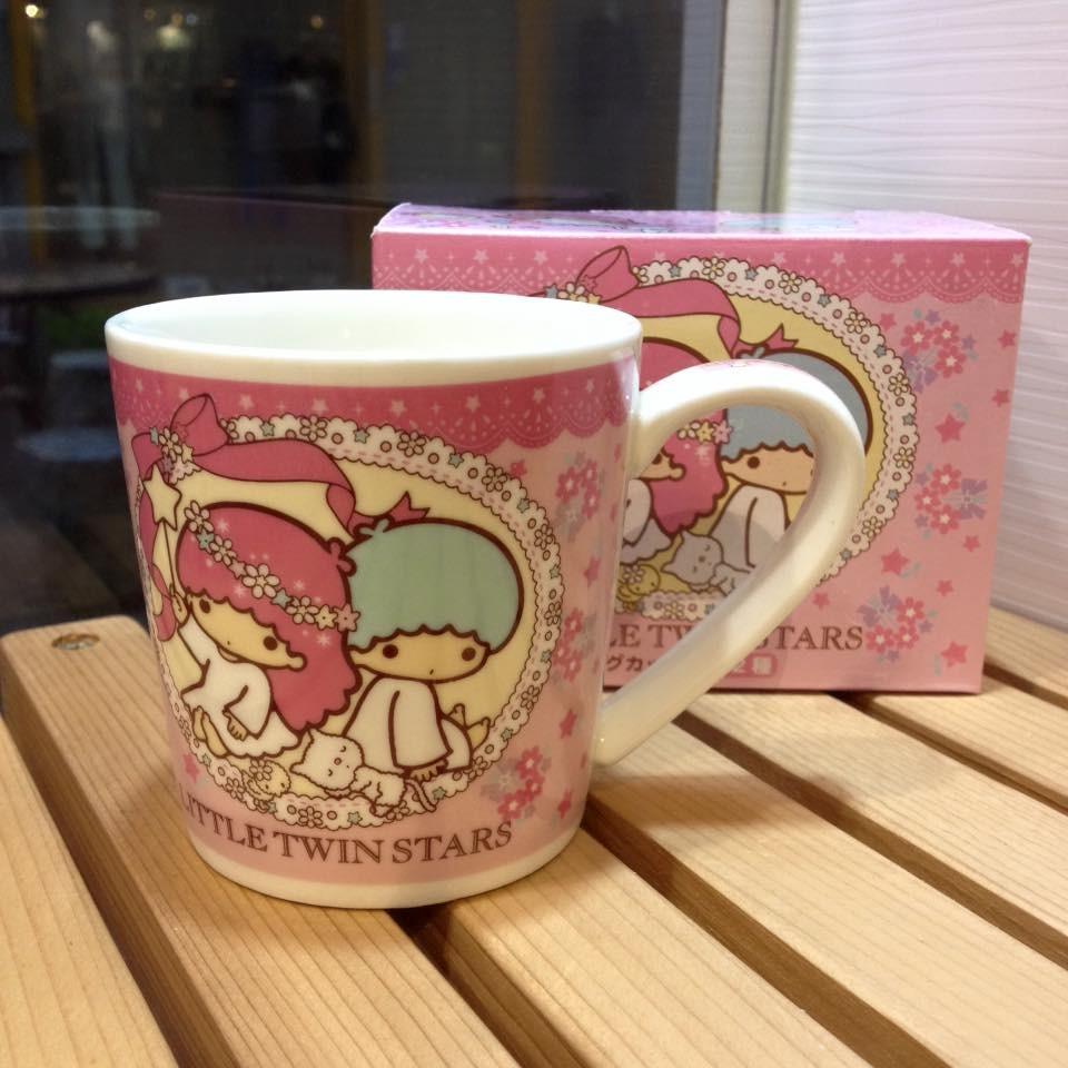 阿虎會社~A 636 ~日貨雙子星Kikilala 馬克杯陶瓷杯咖啡杯子水杯附紙盒200m