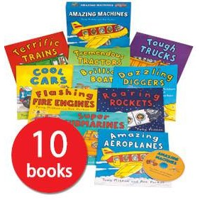 Amazing Machines Collection 10 Books CD