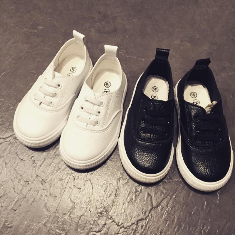 韓系 男童鞋女童鞋懶人鞋黑白平底休閒鞋