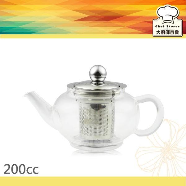 AOK 養身玻璃泡茶壺附濾網200cc 個人獨享壺大廚師