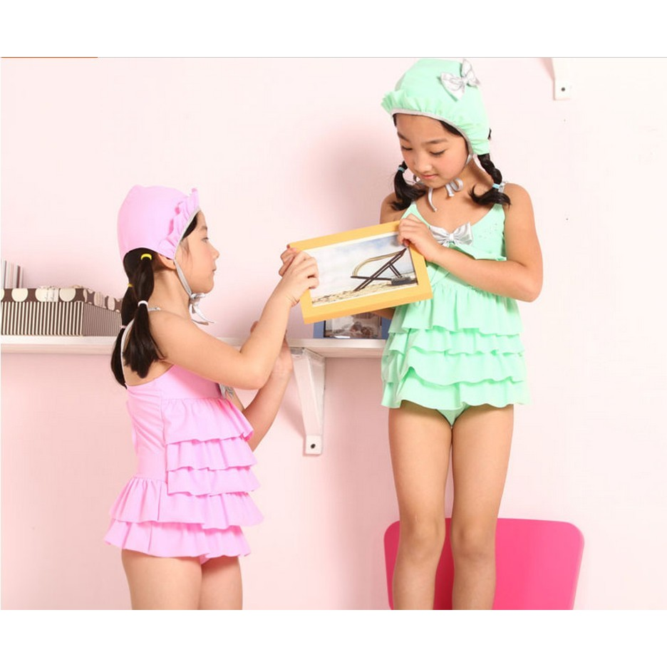 水之舞YL49016813 連身裙式兒童泳衣兒童泳裝幼稚園國小溫泉中童M 2XL