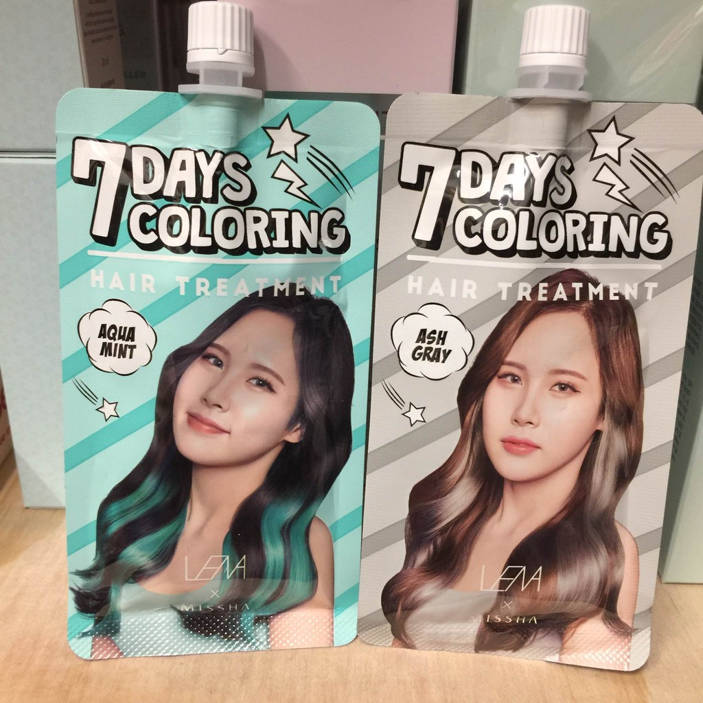 ~ENNIE 韓國 ~新色 MISSHA X LENA 聯名款七日染髮包染髮劑