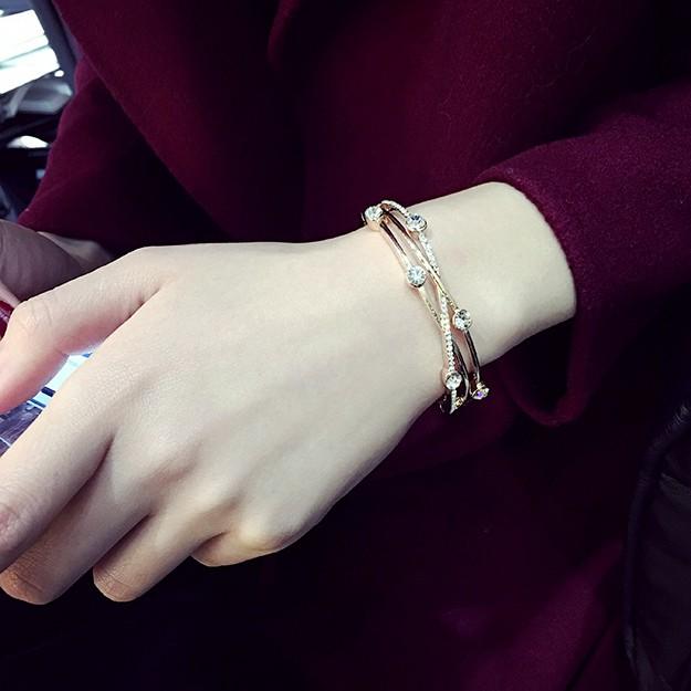 珍珠水晶手鏈 簡約首飾學生手環 手飾品百搭韓國手鐲女