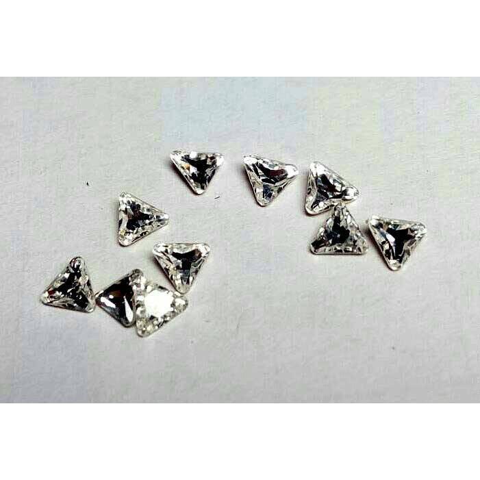 施華洛世奇水鑽4722 三角白4mm 尖底鑽,10 顆入