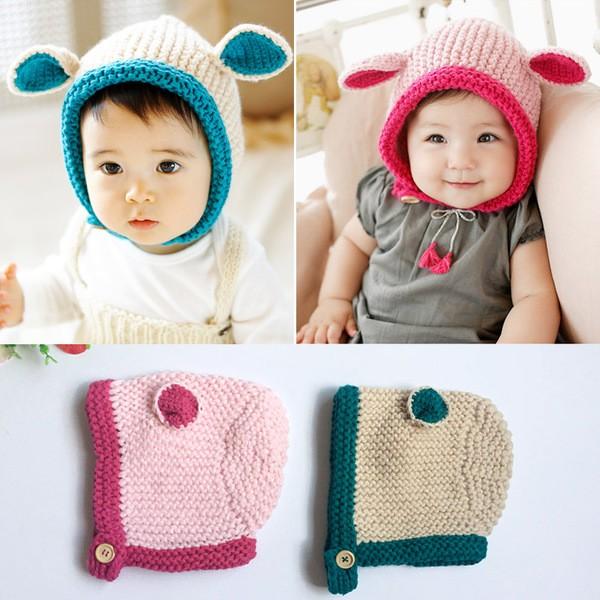 ~Qbaby 童衣舖~ 兔耳朵針織護耳毛線帽