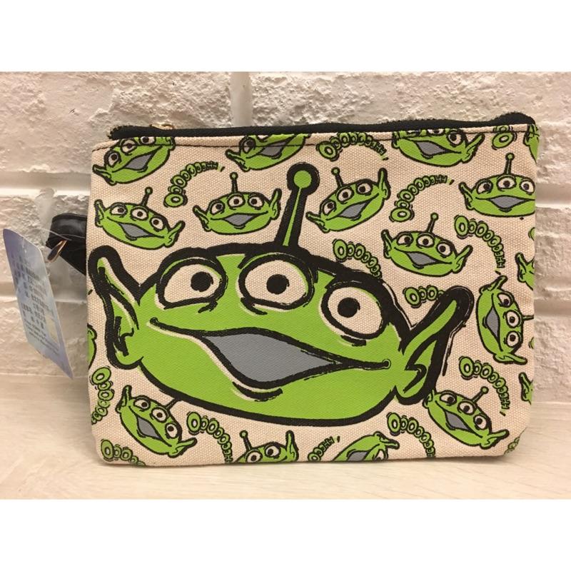 迪士尼 三眼怪皮革帆布收納包、手拿包、午餐包( )