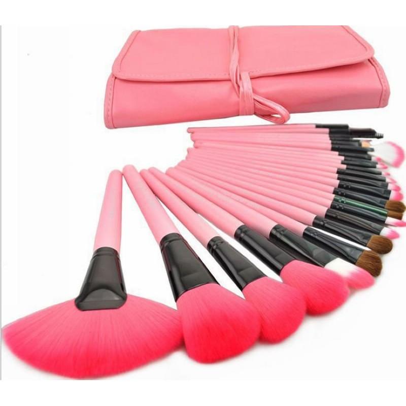 24 件刷具組24 件化妝刷化妝刷套裝美妝工具化妝桶刷24 件刷具美容套裝彩妝刷化妝師美容