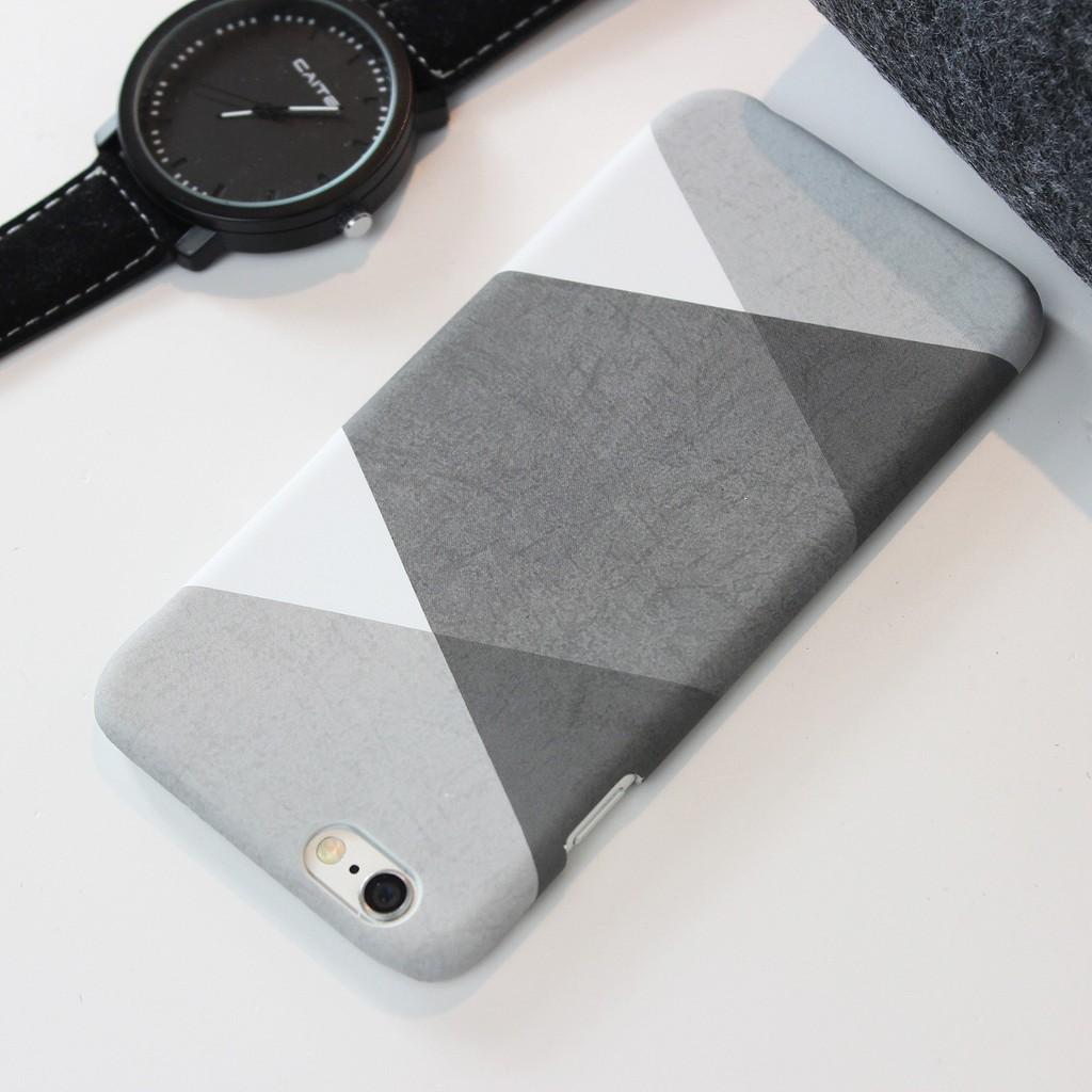 日系黑白灰幾何文創磨砂 iPhone 6s Plus iPhone7 i7 i5s SE