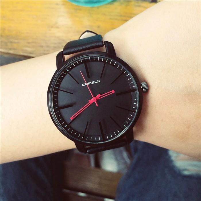 韓國 潮流 休閒簡約百搭學生女表皮帶時裝表中性石英表正品手錶 表 表手錶 表 表手錶 表