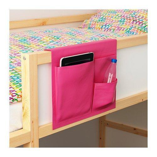 ~IKEA 宜家 STICKAT 粉紅色橘色綠色床邊收納袋置物袋置物櫃床頭手機袋~