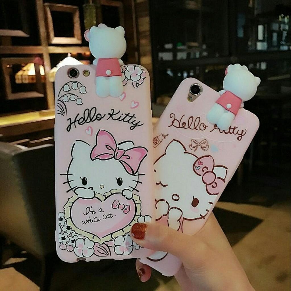 韓國hello kitty KT 貓卡通OPPO f1s 手機殼軟殼iphone 保護殼o