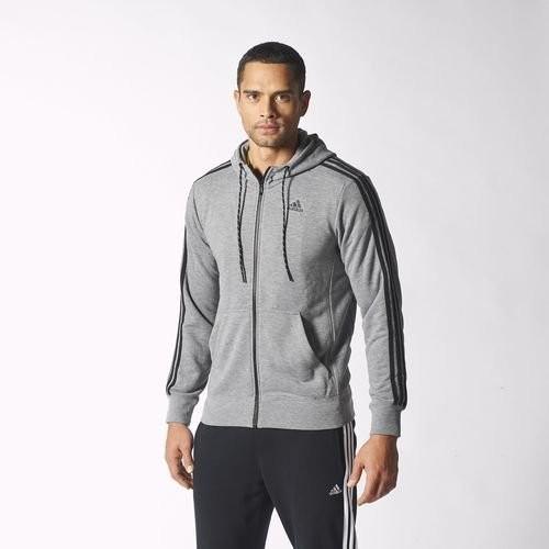 Adidas s12904 黑灰色LOGO 款 棉連帽外套男款余文樂貝克漢